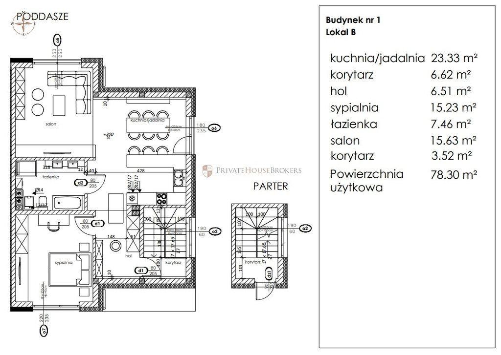 Mieszkanie dwupokojowe na sprzedaż Bibice, Jagodowa  78m2 Foto 6