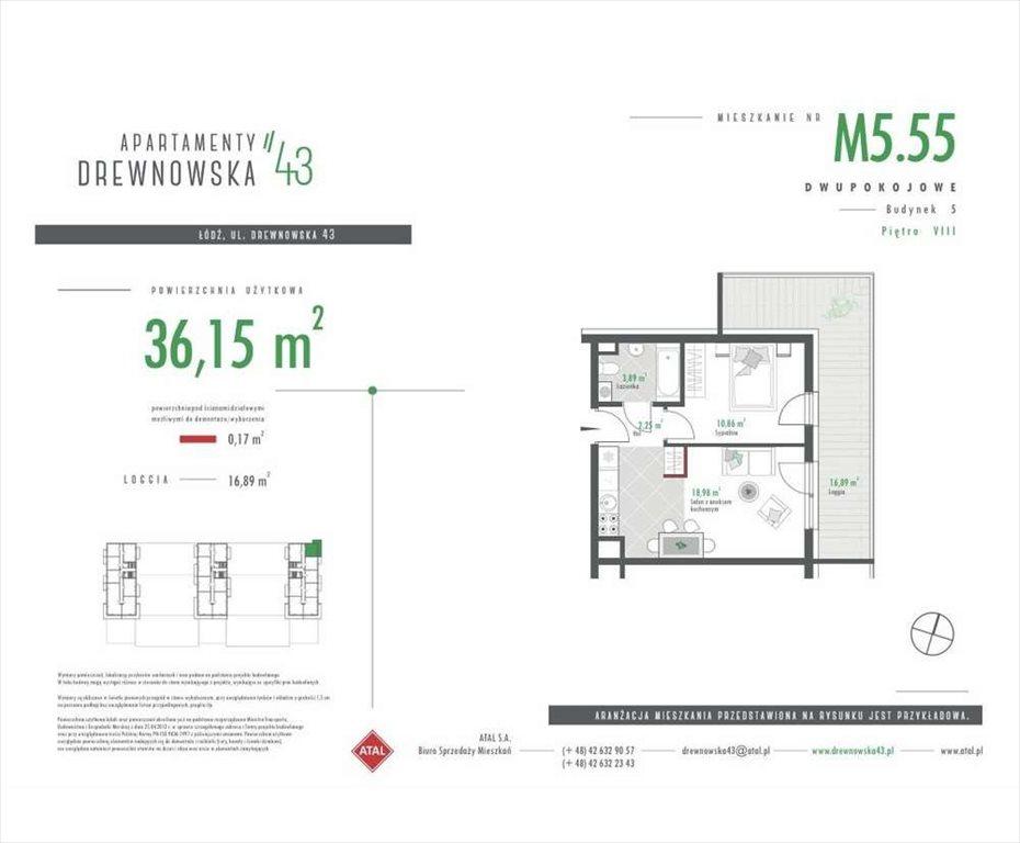 Mieszkanie dwupokojowe na sprzedaż Łódź, Śródmieście  36m2 Foto 2