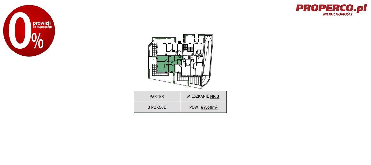 Mieszkanie trzypokojowe na sprzedaż Kielce, Szydłówek, Klonowa  68m2 Foto 6
