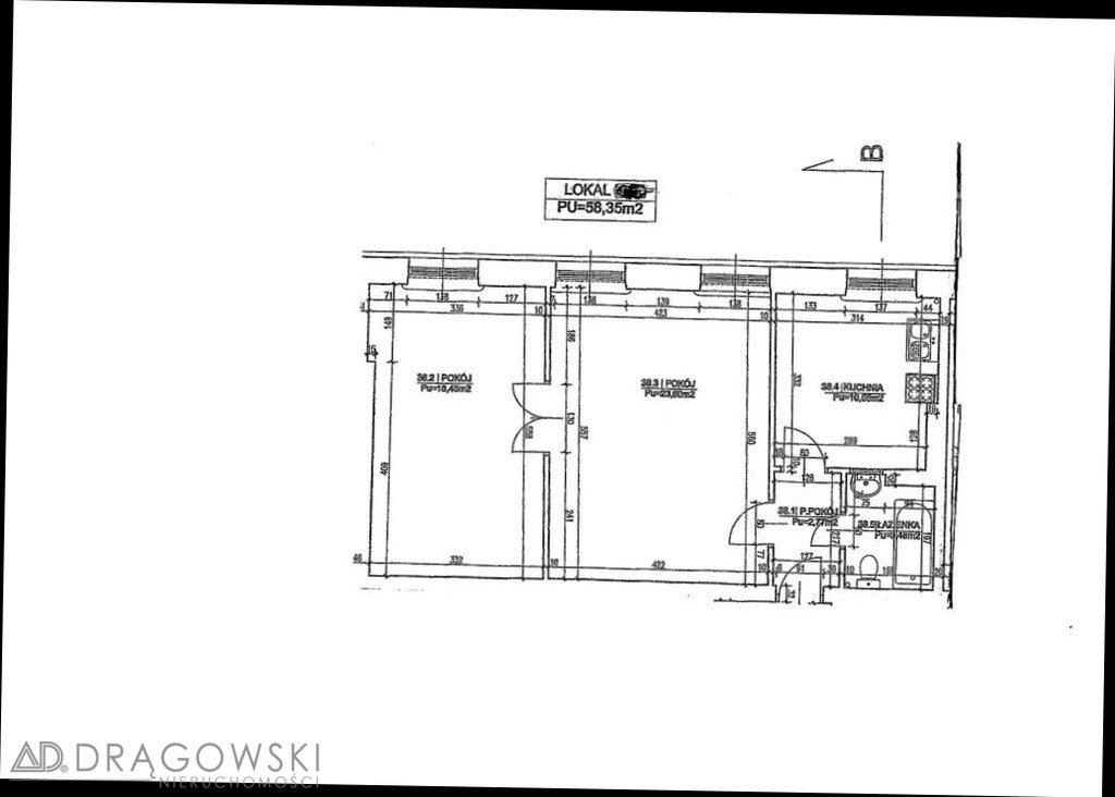 Mieszkanie dwupokojowe na sprzedaż Warszawa, Mokotów, Puławska  58m2 Foto 10