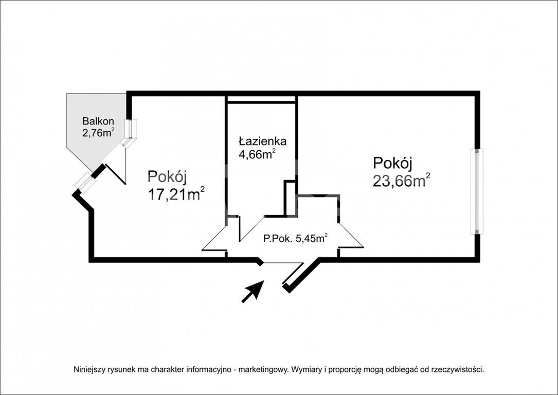 Mieszkanie dwupokojowe na sprzedaż Wrocław, Stare Miasto, Krawiecka  53m2 Foto 3