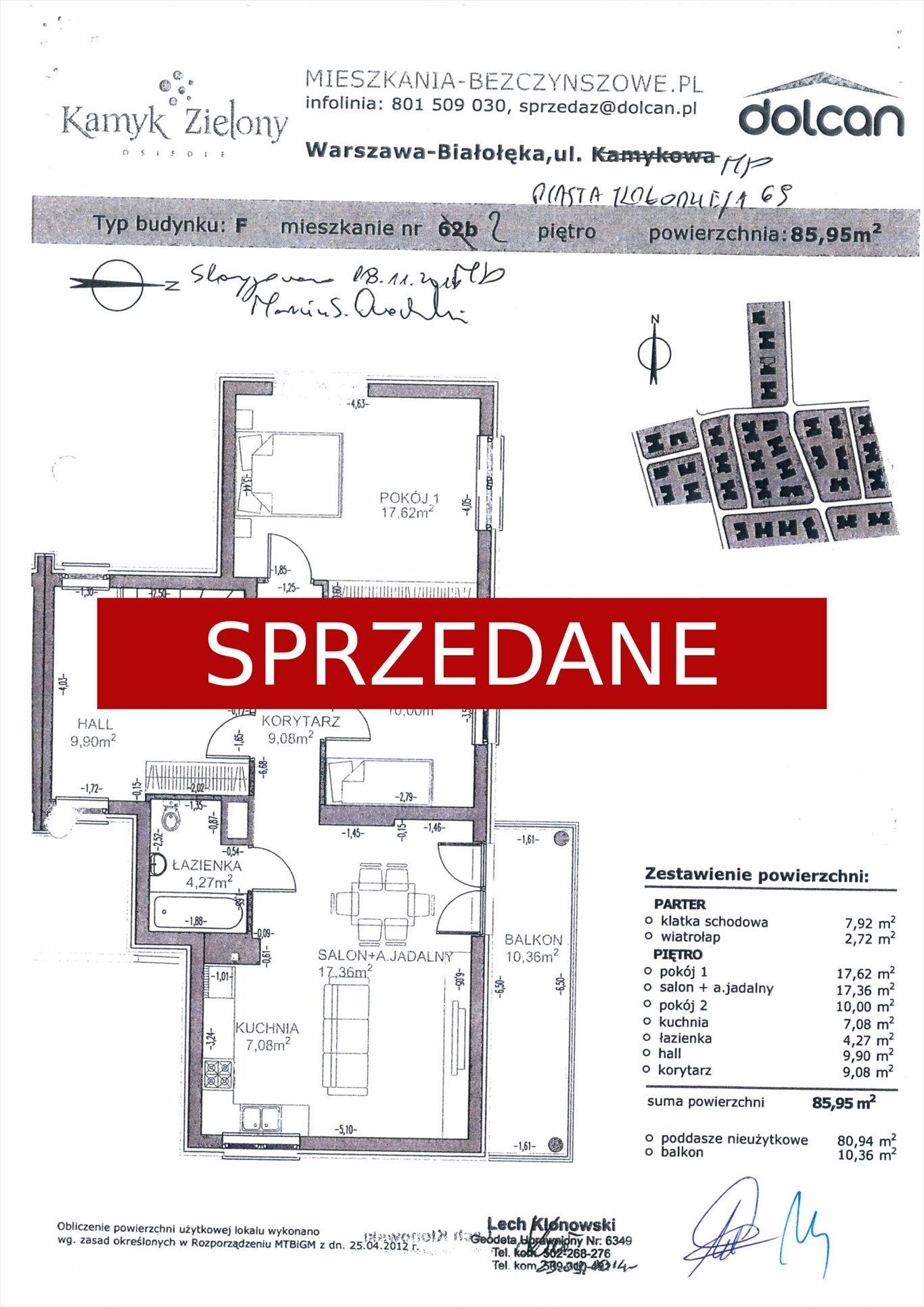 Mieszkanie trzypokojowe na sprzedaż Warszawa, Białołęka  86m2 Foto 3