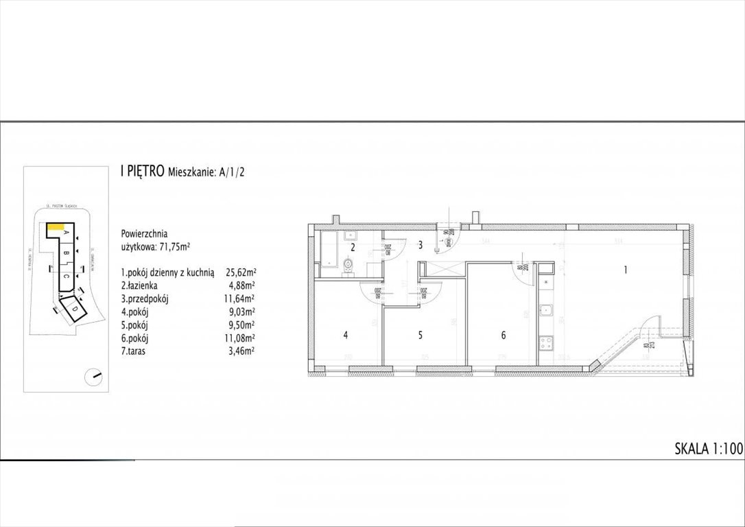 Mieszkanie czteropokojowe  na sprzedaż Siechnice  72m2 Foto 1
