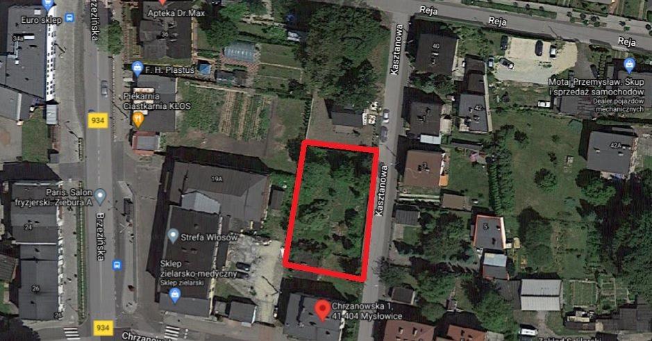 Działka inna na sprzedaż Mysłowice, Brzezinka, Kasztanowa  868m2 Foto 3
