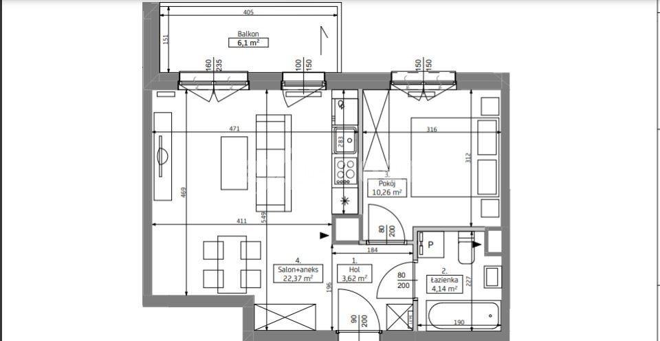 Mieszkanie dwupokojowe na sprzedaż Poznań, Grunwald, Jeleniogórska  41m2 Foto 4