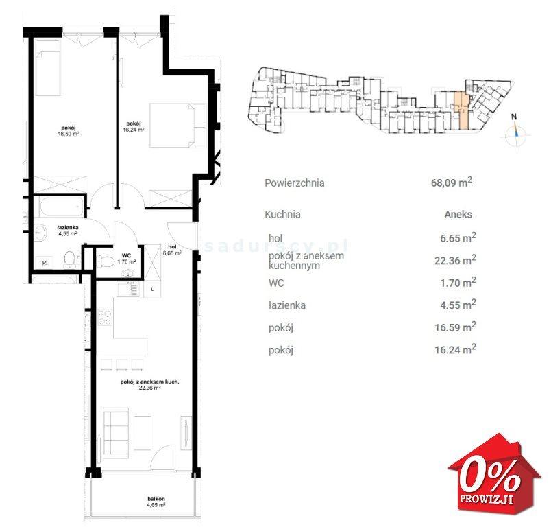Mieszkanie trzypokojowe na sprzedaż Kraków, Prądnik Czerwony, Olsza, Lublańska - okolice  68m2 Foto 5