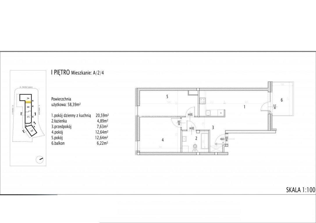 Mieszkanie trzypokojowe na sprzedaż Siechnice  58m2 Foto 8