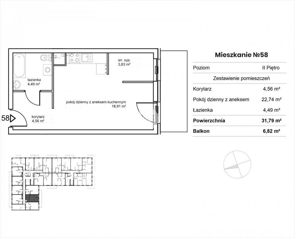 Mieszkanie dwupokojowe na sprzedaż Bydgoszcz, Okole, Garbary  32m2 Foto 8
