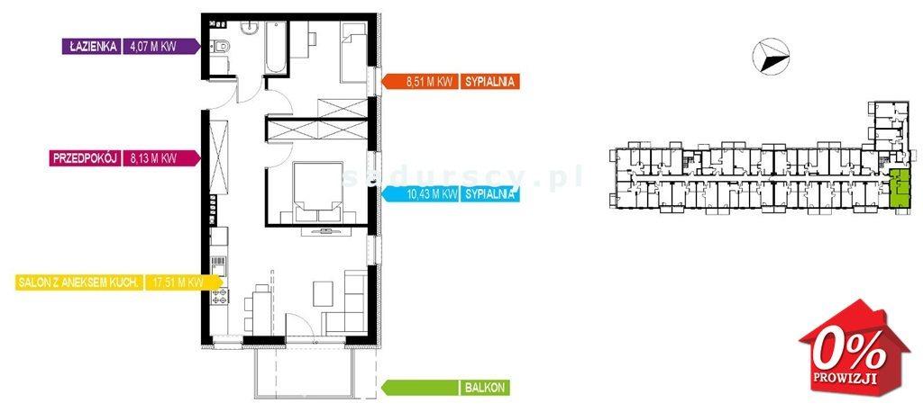 Mieszkanie trzypokojowe na sprzedaż Kraków, Bieżanów-Prokocim, Osiedle Złocień, Osiedle Złocień  49m2 Foto 3