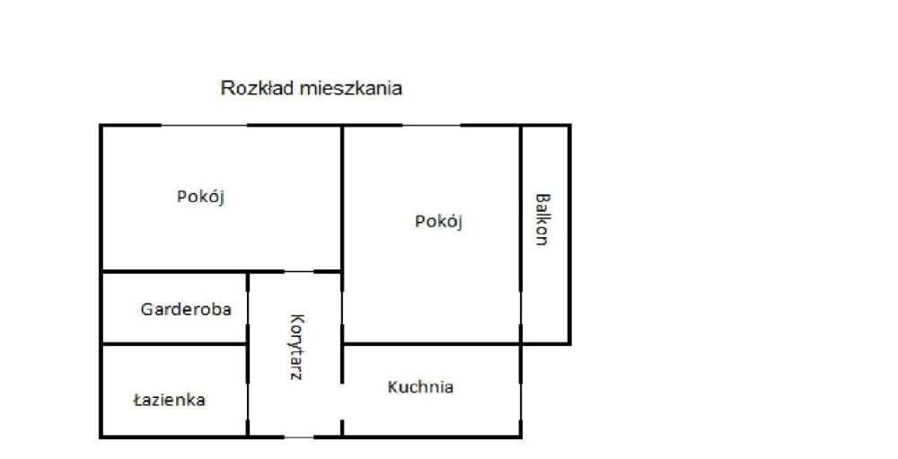 Mieszkanie dwupokojowe na sprzedaż Częstochowa  48m2 Foto 1
