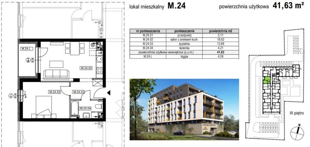 Mieszkanie dwupokojowe na sprzedaż Rzeszów, Krakowska  42m2 Foto 2