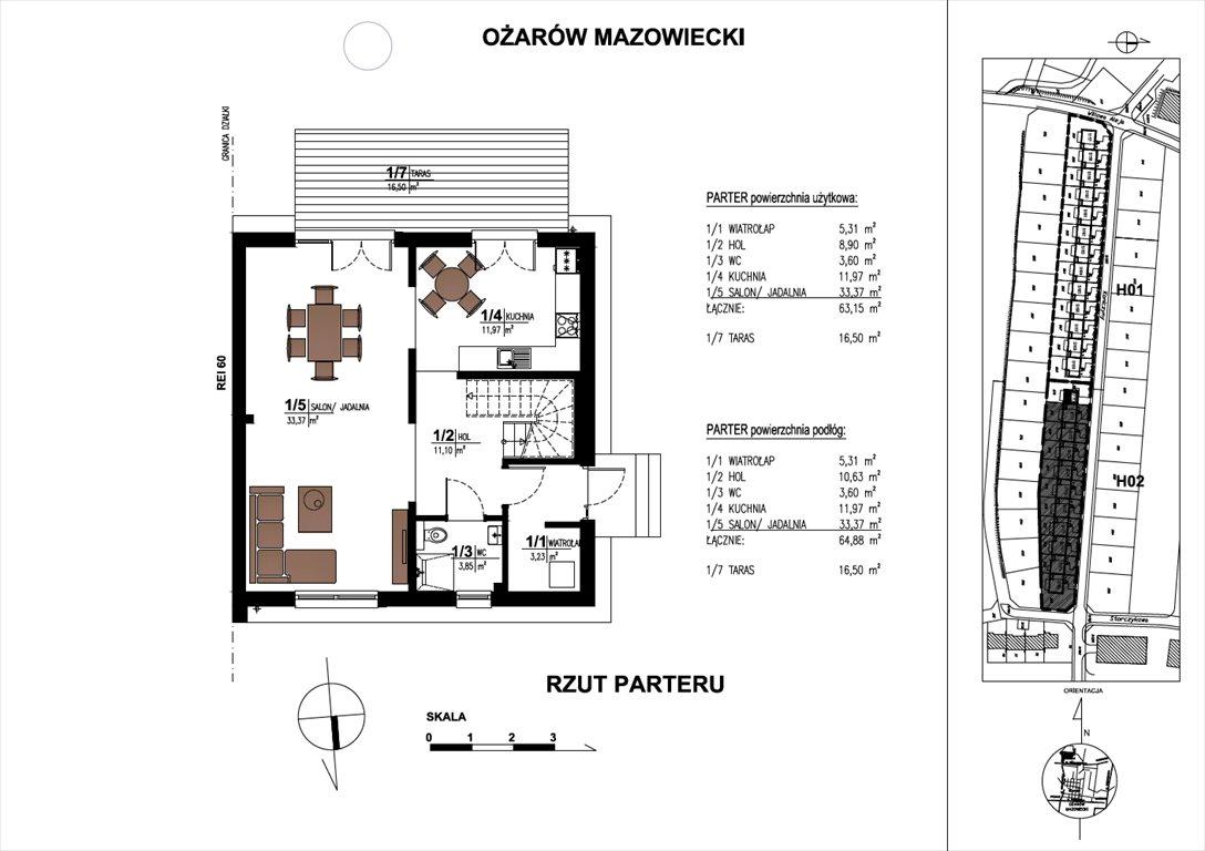 Dom na sprzedaż Ożarów Mazowiecki  134m2 Foto 3