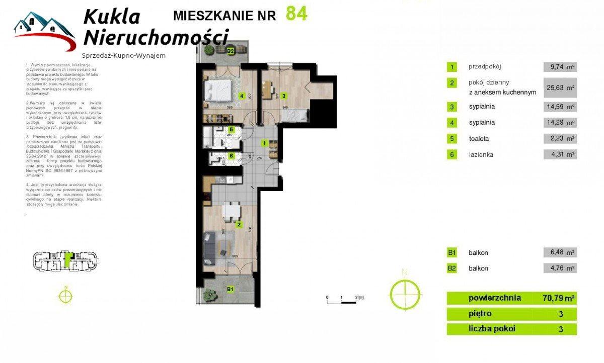 Mieszkanie trzypokojowe na sprzedaż Kraków, Grzegórzki, płk. Francesco Nullo  81m2 Foto 4