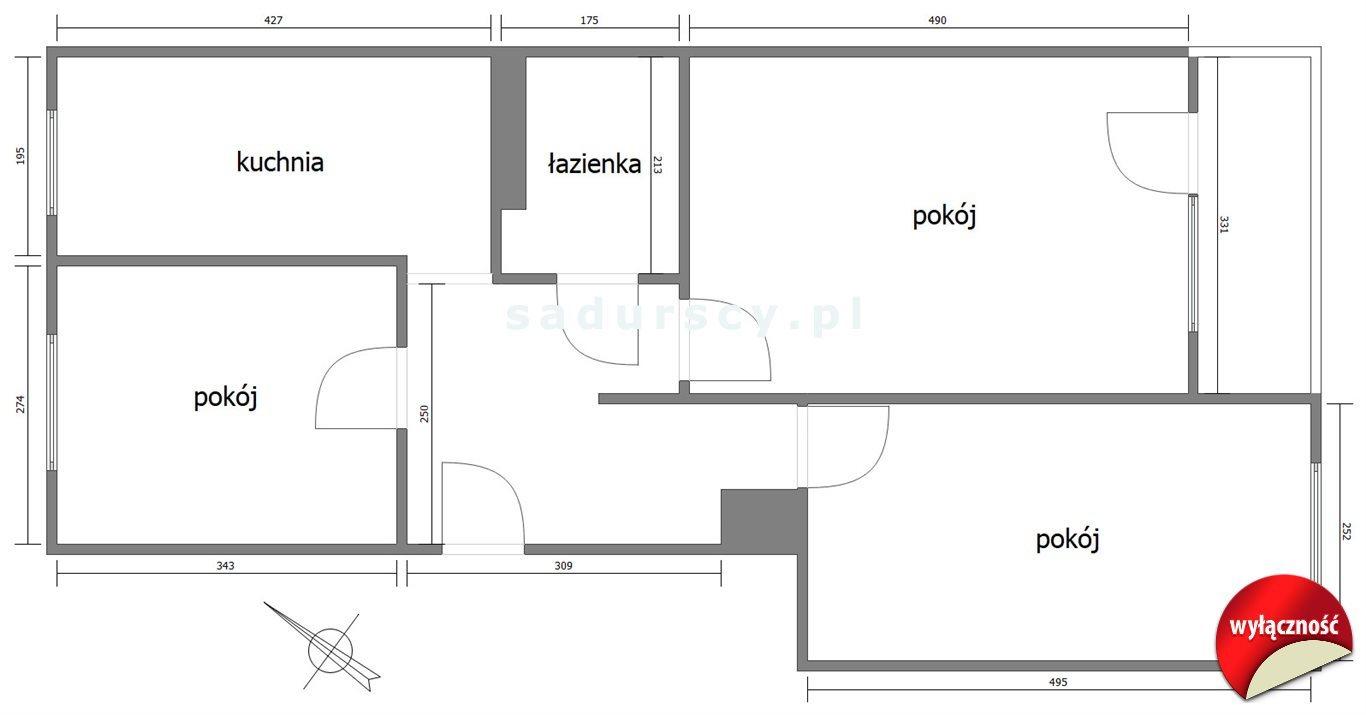 Mieszkanie trzypokojowe na sprzedaż kraków, czyżyny, os. Tysiąclecia  59m2 Foto 9