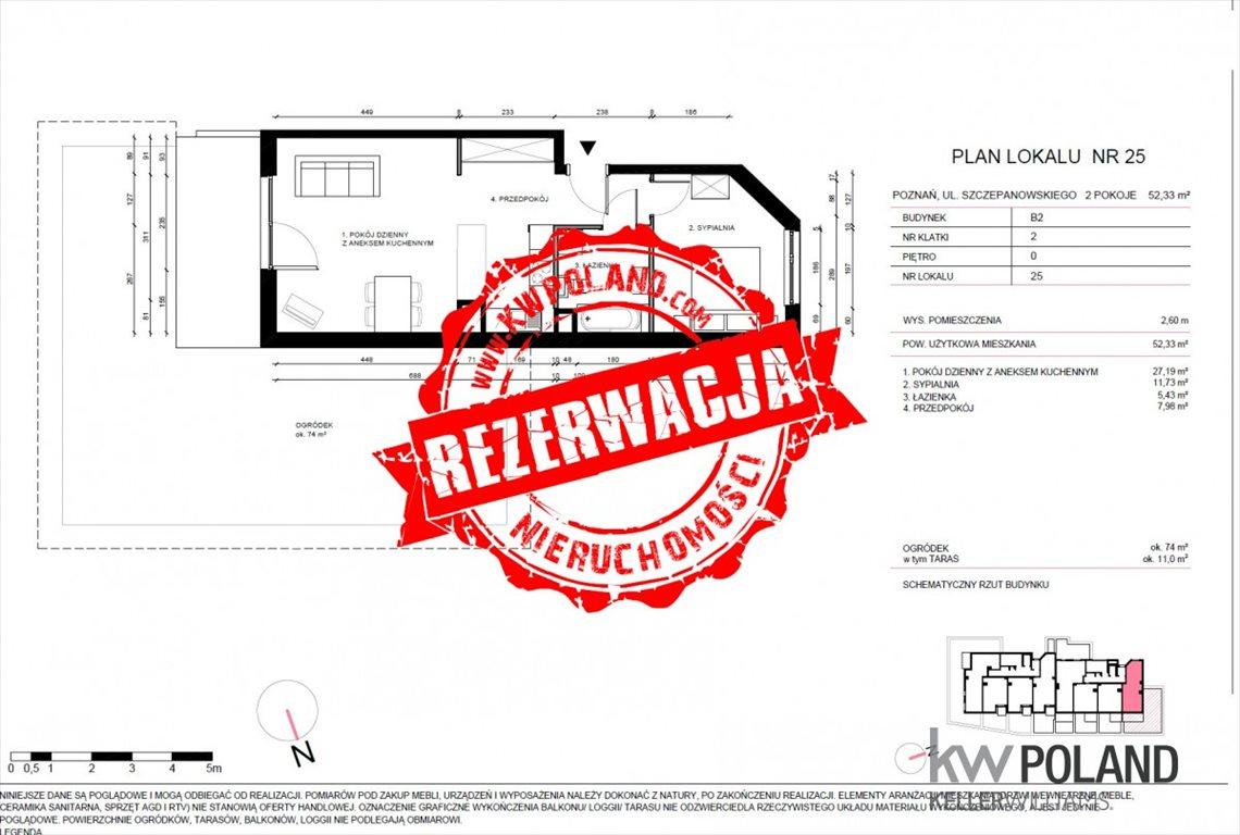 Mieszkanie dwupokojowe na sprzedaż Poznań, Jeżyce, Stanisława Szczepanowskiego  52m2 Foto 5