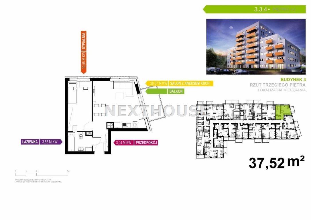 Mieszkanie dwupokojowe na sprzedaż Gliwice, Śródmieście  38m2 Foto 3