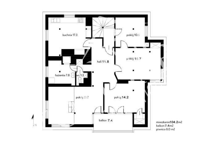 Mieszkanie czteropokojowe  na sprzedaż Warszawa, Mokotów, Górny Mokotów, Górny Mokotów  107m2 Foto 3