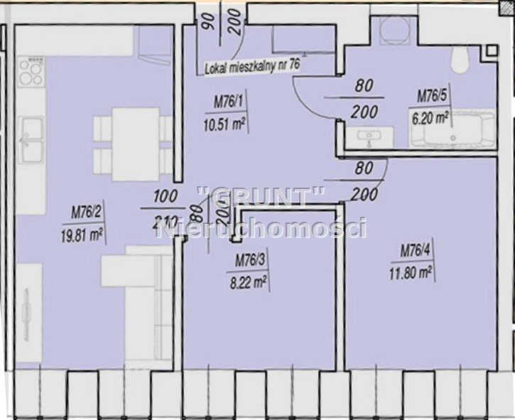 Mieszkanie trzypokojowe na sprzedaż Piła  59m2 Foto 4