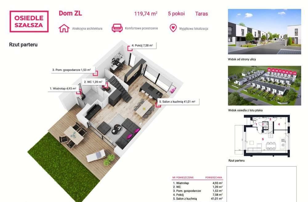 Dom na sprzedaż Gliwice, Szałsza, Ptasia  145m2 Foto 4