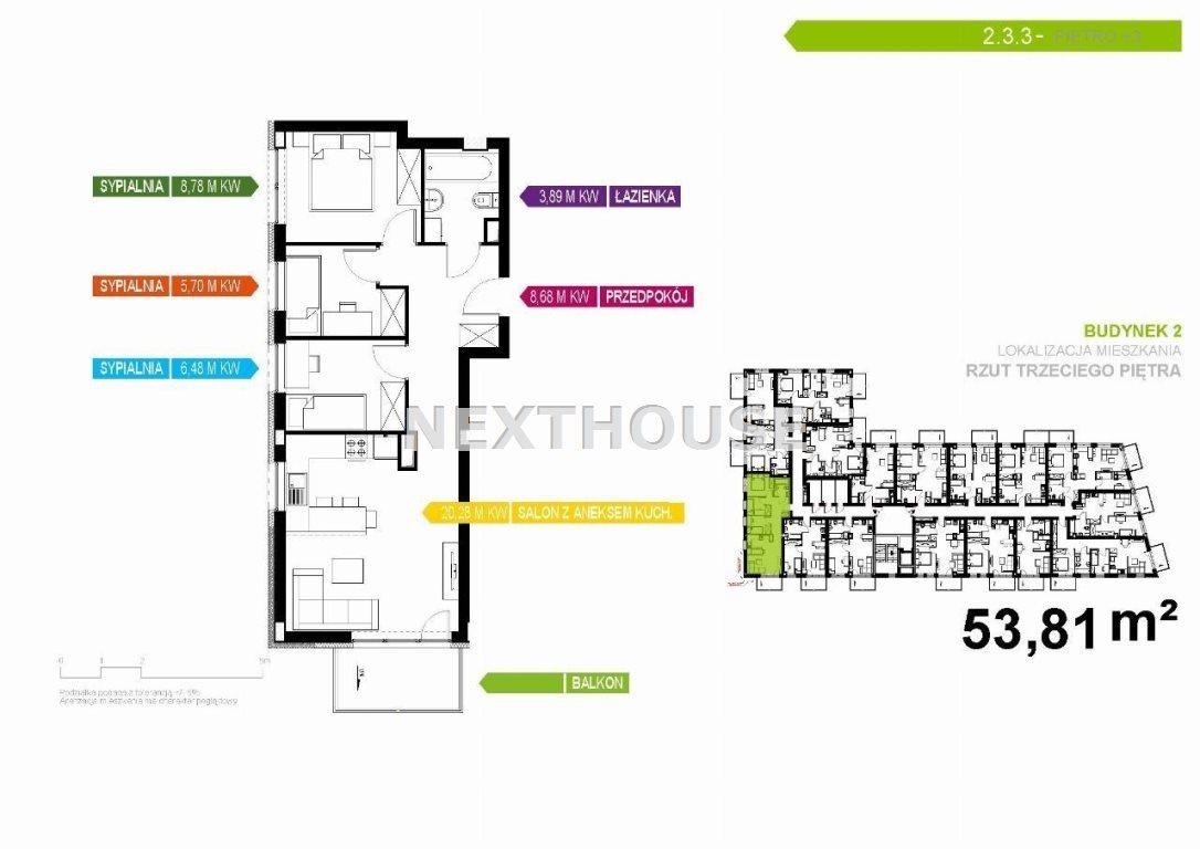 Mieszkanie czteropokojowe  na sprzedaż Gliwice, Stare Gliwice  54m2 Foto 2