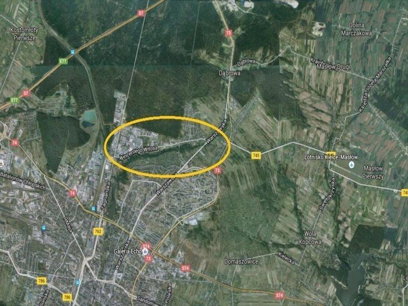 Działka inwestycyjna pod dzierżawę Kielce, Dąbrowa, Witosa  3781m2 Foto 1