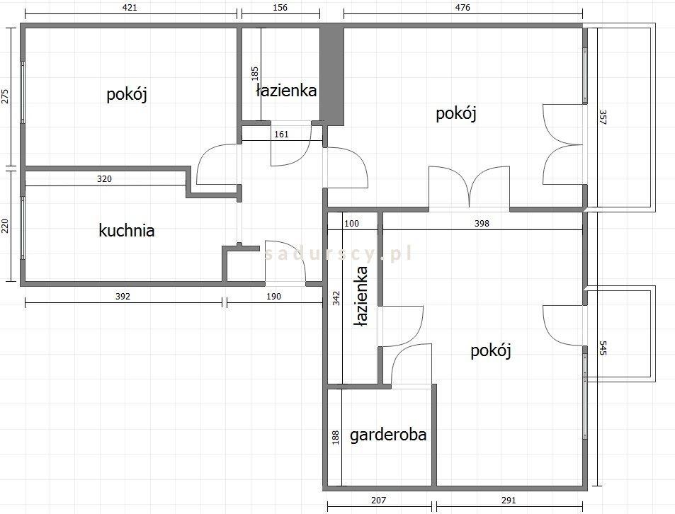 Mieszkanie trzypokojowe na wynajem Kraków, Stare Miasto, Kleparz, Kremerowska  75m2 Foto 3