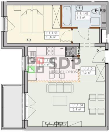 Mieszkanie dwupokojowe na sprzedaż Wrocław, Krzyki, Jagodno, Buforowa  50m2 Foto 4