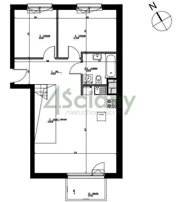 Mieszkanie czteropokojowe  na sprzedaż Konstancin-Jeziorna, Warszawska  123m2 Foto 5