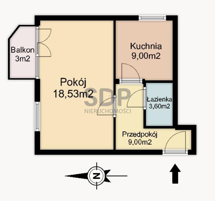 Kawalerka na sprzedaż Wrocław, Fabryczna, Złotniki, Złotnicka  40m2 Foto 13