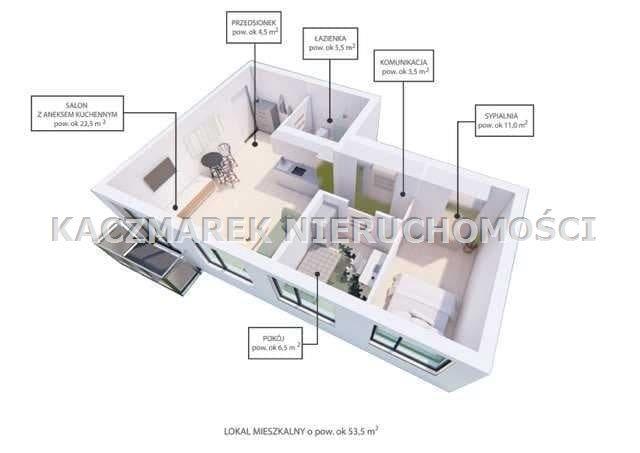 Mieszkanie na sprzedaż Bieruń  55m2 Foto 1
