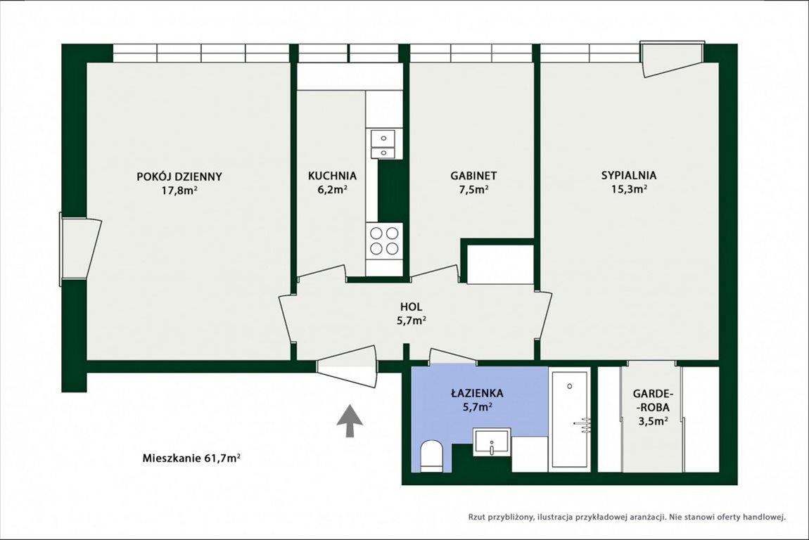 Mieszkanie trzypokojowe na sprzedaż Warszawa, Bielany Marymont, Marymoncka  62m2 Foto 9