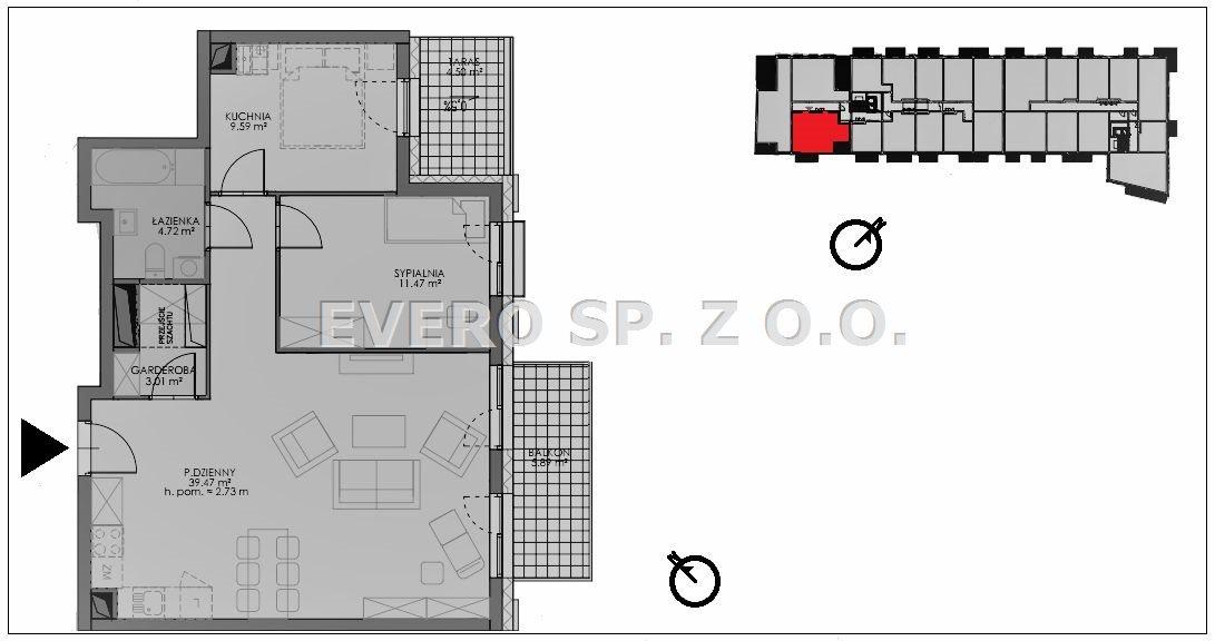 Mieszkanie trzypokojowe na sprzedaż Wrocław, Stare Miasto, NOWE- BEZ PROWIZJI- STARE MIASTO- 2/3 POKOJE  68m2 Foto 4
