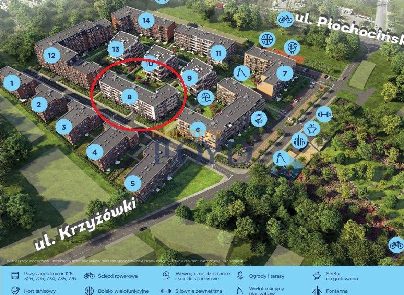 Mieszkanie dwupokojowe na sprzedaż Warszawa, Białołęka, Krzyżówki  46m2 Foto 2