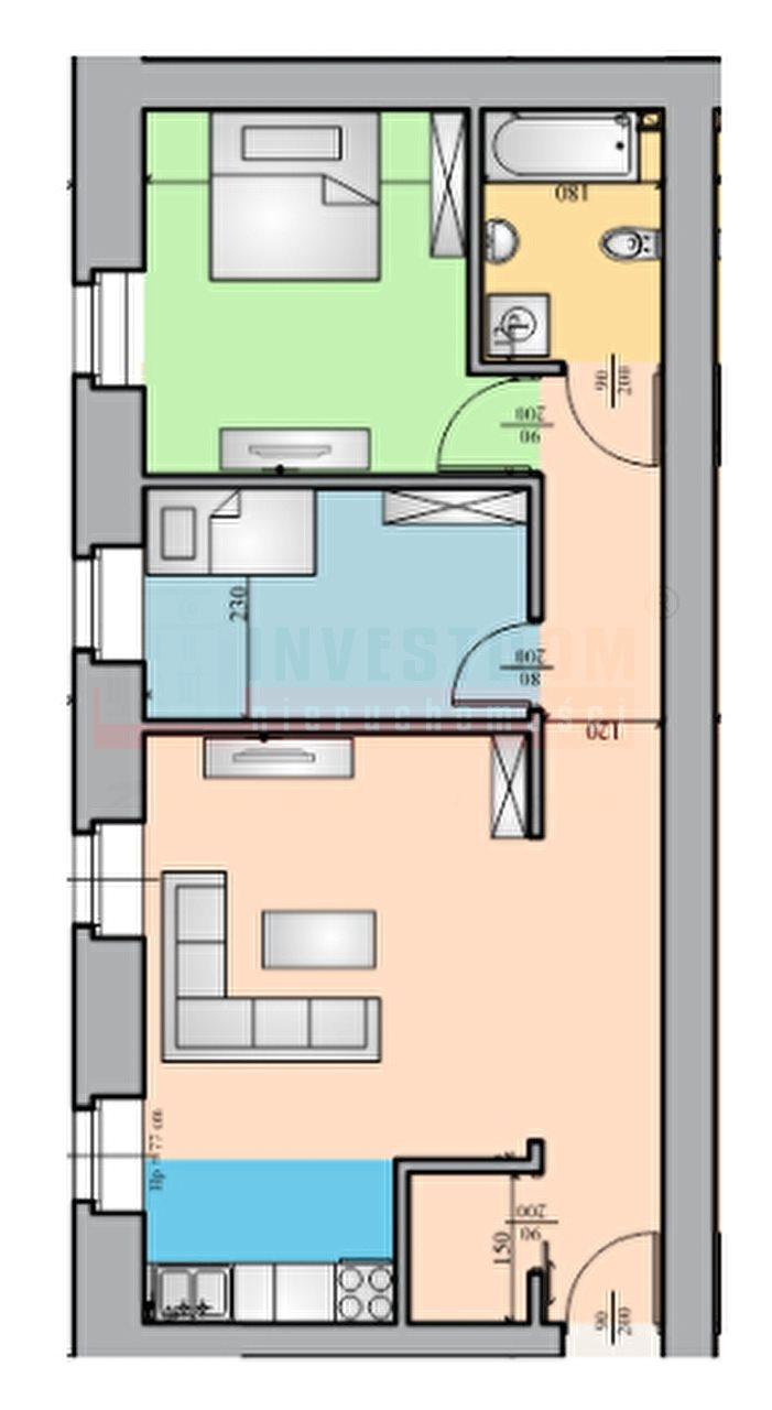 Mieszkanie trzypokojowe na sprzedaż Brzeg  58m2 Foto 5
