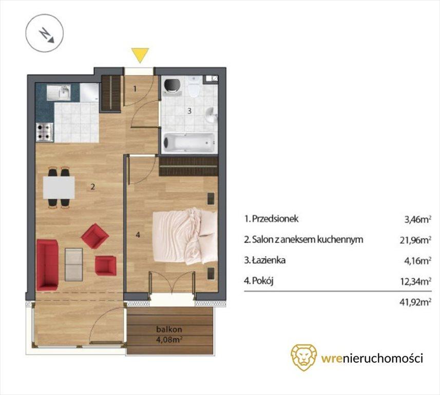 Mieszkanie dwupokojowe na sprzedaż Wrocław, Tarnogaj  42m2 Foto 1