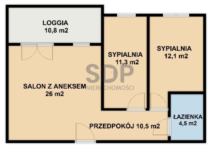 Mieszkanie trzypokojowe na sprzedaż Wrocław, Fabryczna, Stabłowice, Stabłowicka  64m2 Foto 5