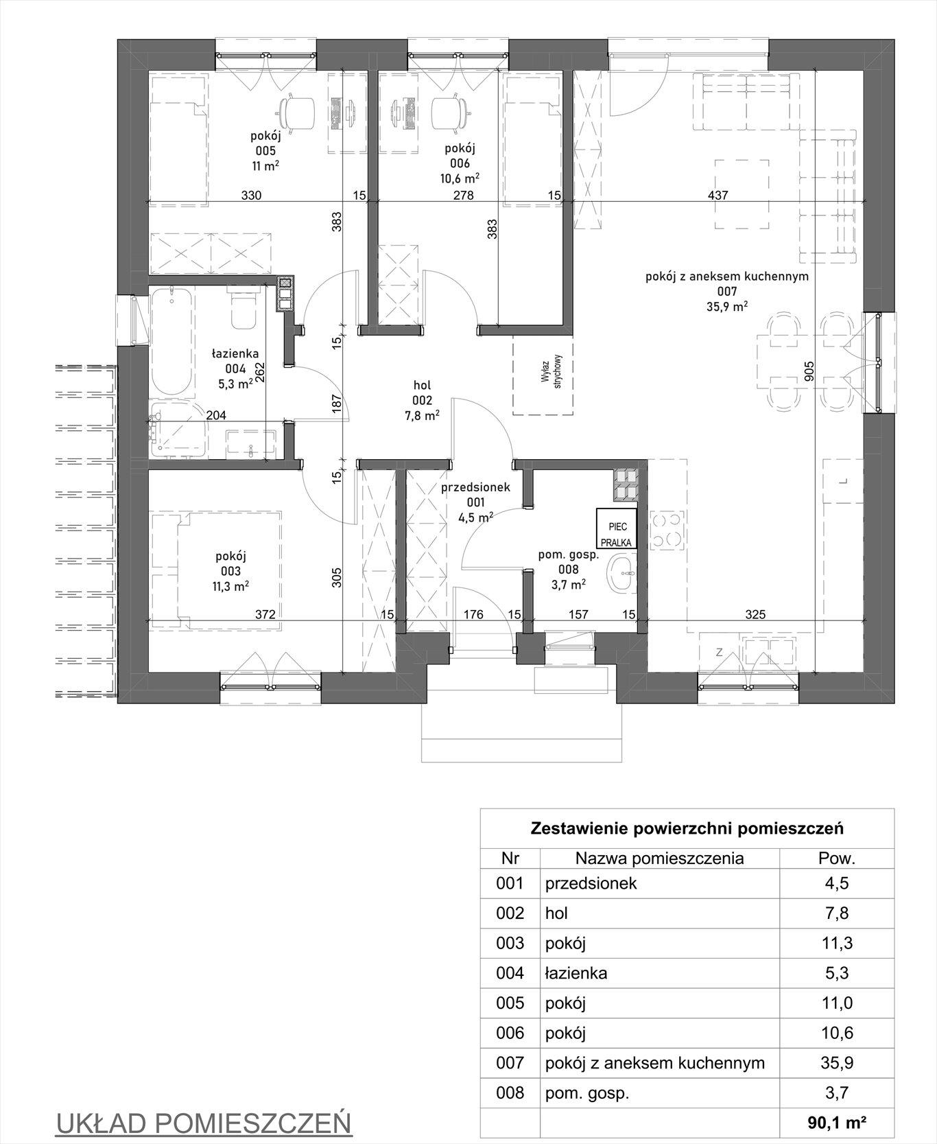 Dom na sprzedaż Kościan  90m2 Foto 3