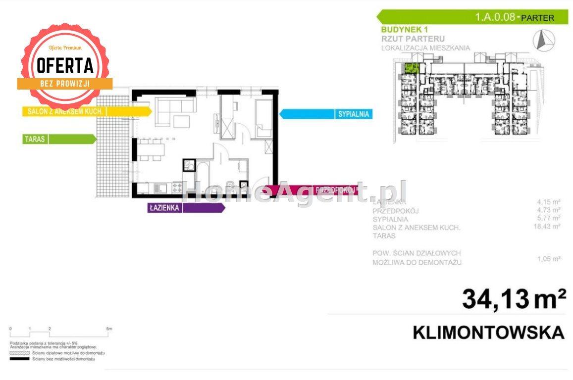 Mieszkanie dwupokojowe na sprzedaż Sosnowiec, Klimontów, Klimontowska  34m2 Foto 8