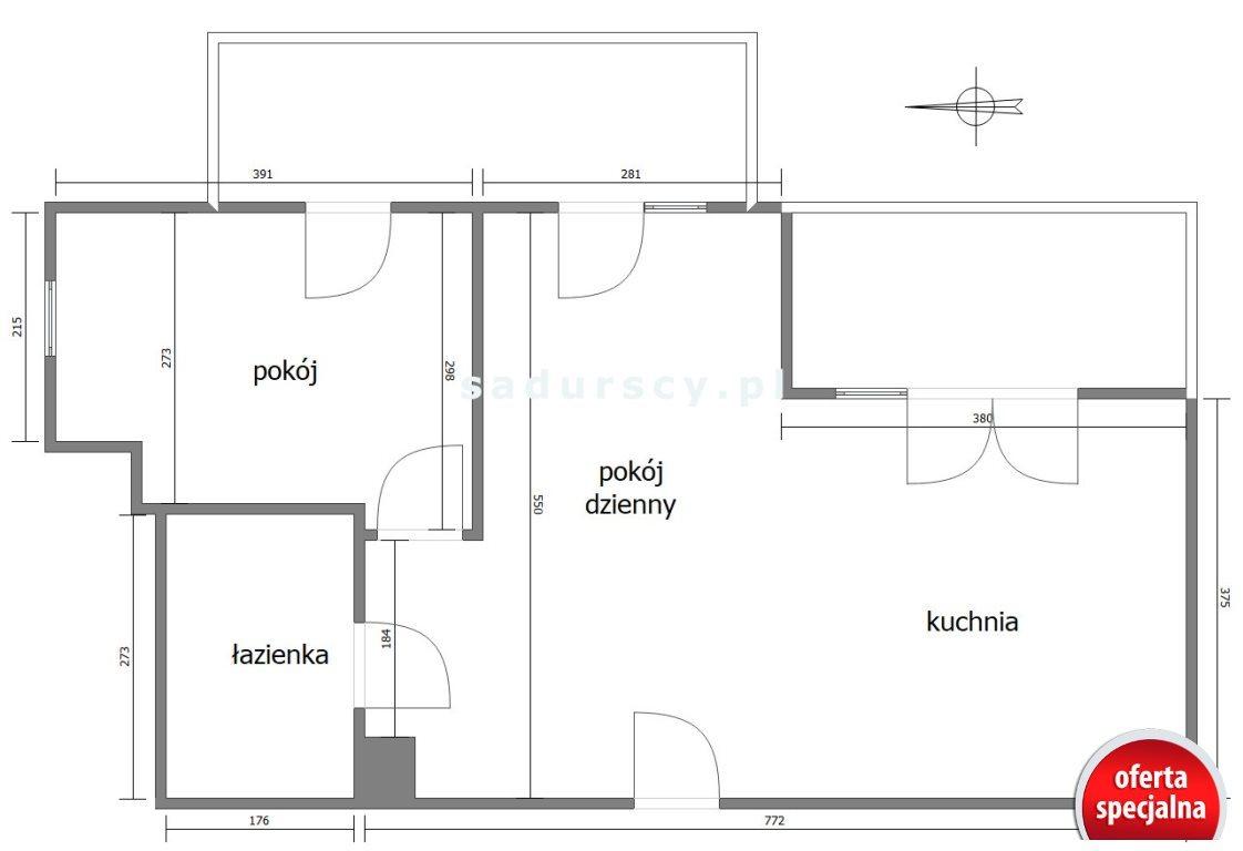 Mieszkanie dwupokojowe na sprzedaż Kraków, Prądnik Biały, Górka Narodowa, Macieja Słomczyńskiego  48m2 Foto 3