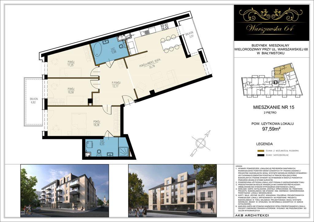 Mieszkanie czteropokojowe  na sprzedaż Białystok, Os. Centrum, Warszawska  98m2 Foto 3