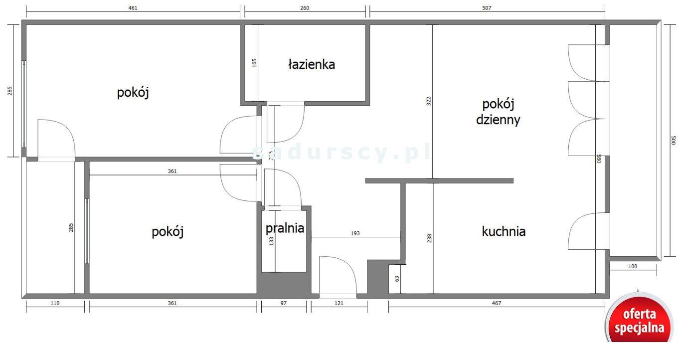 Mieszkanie trzypokojowe na sprzedaż Kraków, Dębniki, Ruczaj, dr. Jana Piltza  66m2 Foto 3