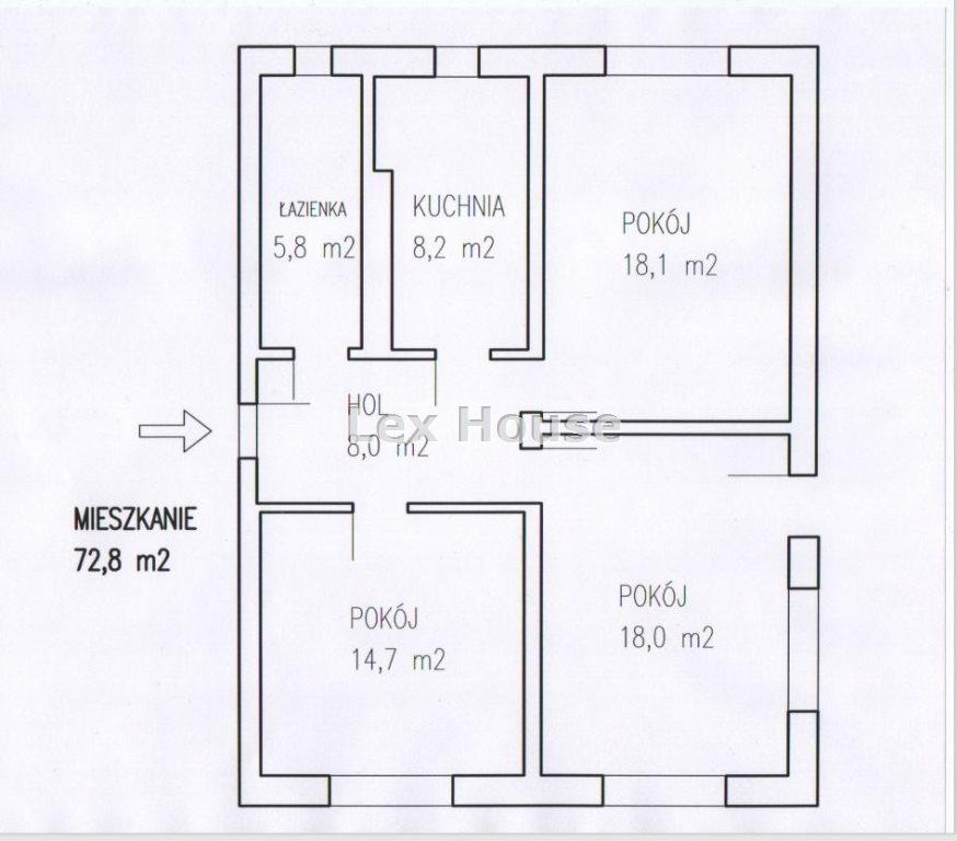 Mieszkanie trzypokojowe na sprzedaż Szczecin, Głębokie  73m2 Foto 1