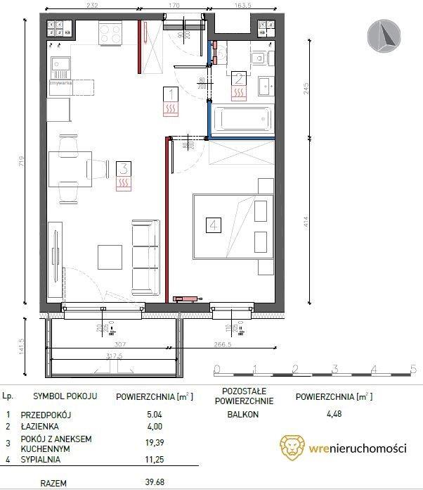 Mieszkanie dwupokojowe na sprzedaż Wrocław, Fabryczna, Jurija Gagarina  40m2 Foto 2