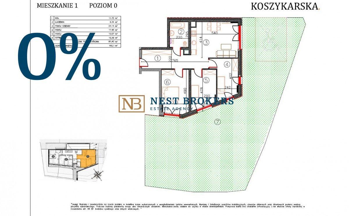 Mieszkanie czteropokojowe  na sprzedaż Kraków, Płaszów, Koszykarska  81m2 Foto 5
