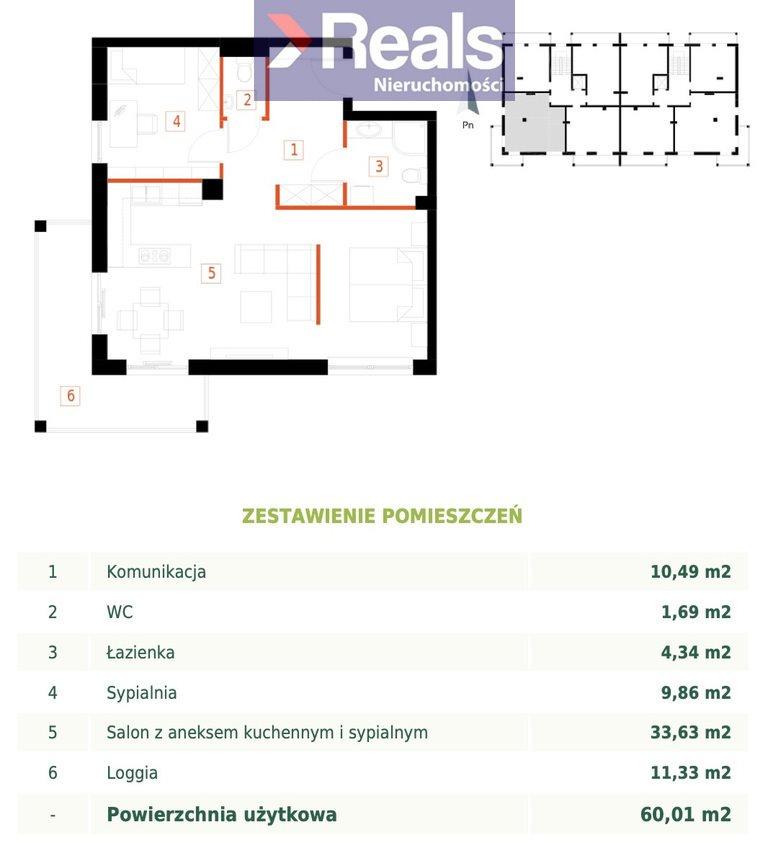 Mieszkanie trzypokojowe na sprzedaż Przemyśl, Bakończyce, Żołnierzy I Armii Wojska Polskiego  60m2 Foto 3