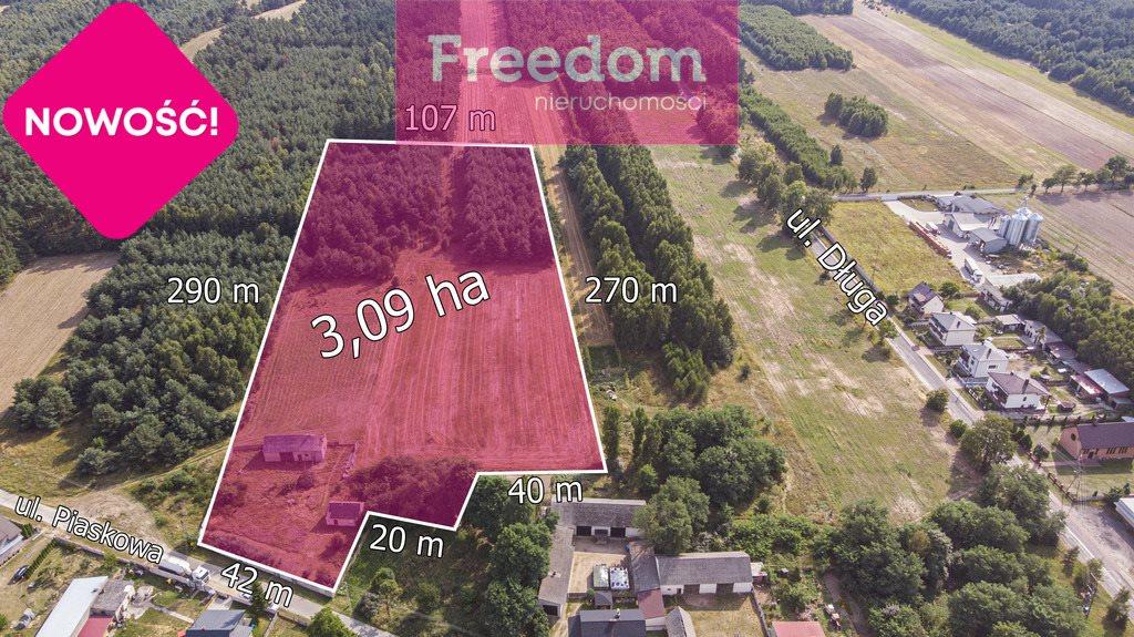 Działka rolna na sprzedaż Ożegów, Piaskowa  30026m2 Foto 8