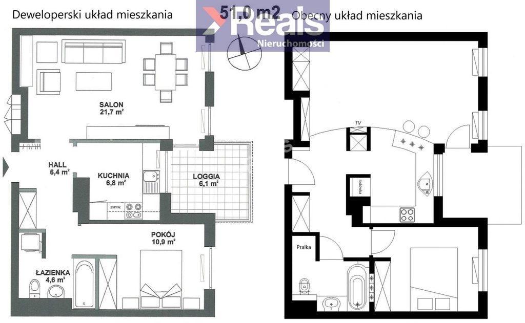 Mieszkanie dwupokojowe na sprzedaż Warszawa, Mokotów, Os. Marina Mokotów, Rajska  51m2 Foto 4