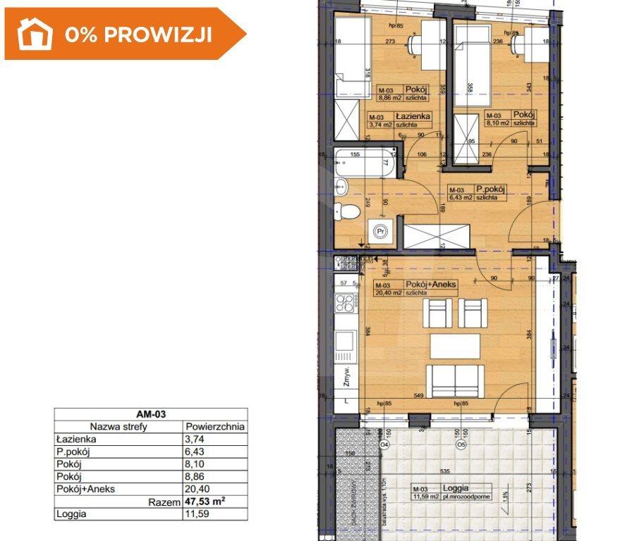 Mieszkanie trzypokojowe na sprzedaż Bydgoszcz, Szwederowo  48m2 Foto 6
