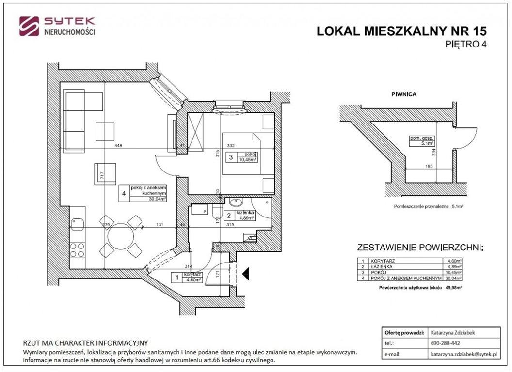 Mieszkanie dwupokojowe na sprzedaż Poznań, Grunwald, Głogowska  50m2 Foto 4