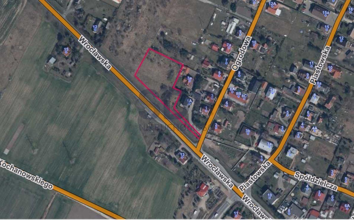Działka przemysłowo-handlowa pod dzierżawę Marcinkowice  3581m2 Foto 3